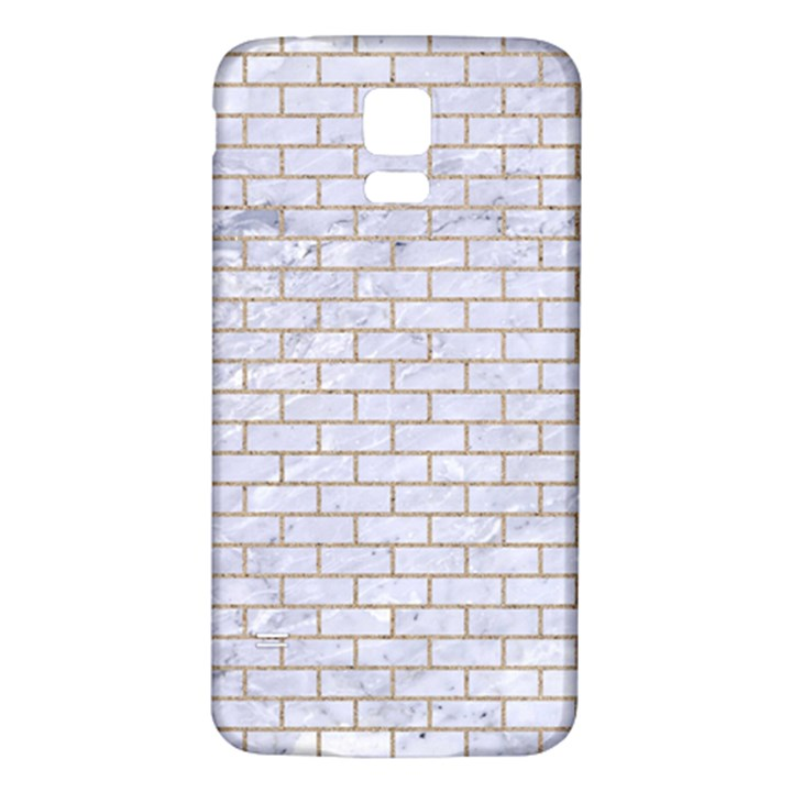 BRICK1 WHITE MARBLE & SAND (R) Samsung Galaxy S5 Back Case (White)