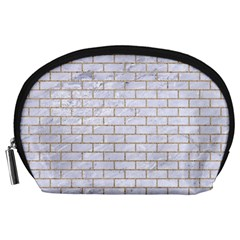 Brick1 White Marble & Sand (r) Accessory Pouches (large)