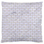 BRICK1 WHITE MARBLE & SAND (R) Large Flano Cushion Case (Two Sides) Front