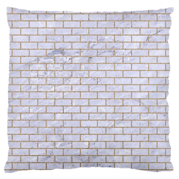 BRICK1 WHITE MARBLE & SAND (R) Large Flano Cushion Case (Two Sides)