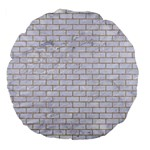 BRICK1 WHITE MARBLE & SAND (R) Large 18  Premium Flano Round Cushions Front