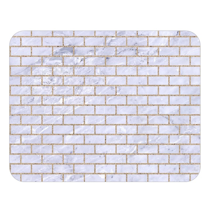 BRICK1 WHITE MARBLE & SAND (R) Double Sided Flano Blanket (Large)