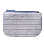BRICK1 WHITE MARBLE & SAND (R) Large Coin Purse Front