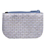 BRICK1 WHITE MARBLE & SAND (R) Large Coin Purse Back