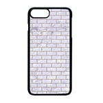 BRICK1 WHITE MARBLE & SAND (R) Apple iPhone 7 Plus Seamless Case (Black) Front