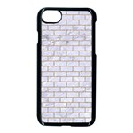 BRICK1 WHITE MARBLE & SAND (R) Apple iPhone 8 Seamless Case (Black) Front