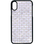 BRICK1 WHITE MARBLE & SAND (R) Apple iPhone X Seamless Case (Black) Front
