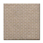 BRICK1 WHITE MARBLE & SAND Tile Coasters Front