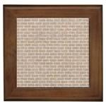 BRICK1 WHITE MARBLE & SAND Framed Tiles Front