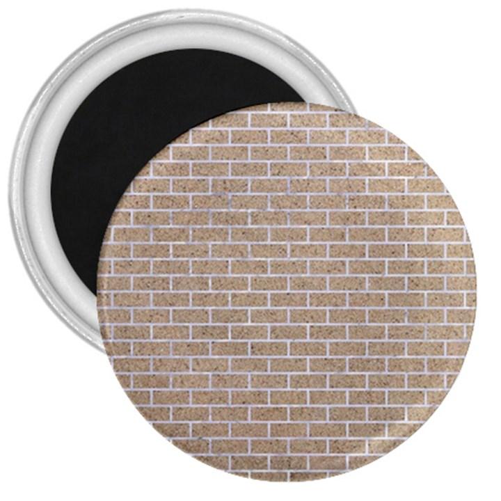 BRICK1 WHITE MARBLE & SAND 3  Magnets