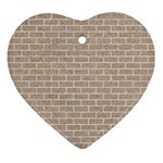 BRICK1 WHITE MARBLE & SAND Ornament (Heart) Front