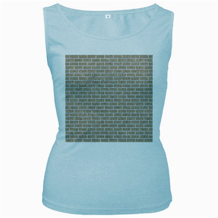 BRICK1 WHITE MARBLE & SAND Women s Baby Blue Tank Top