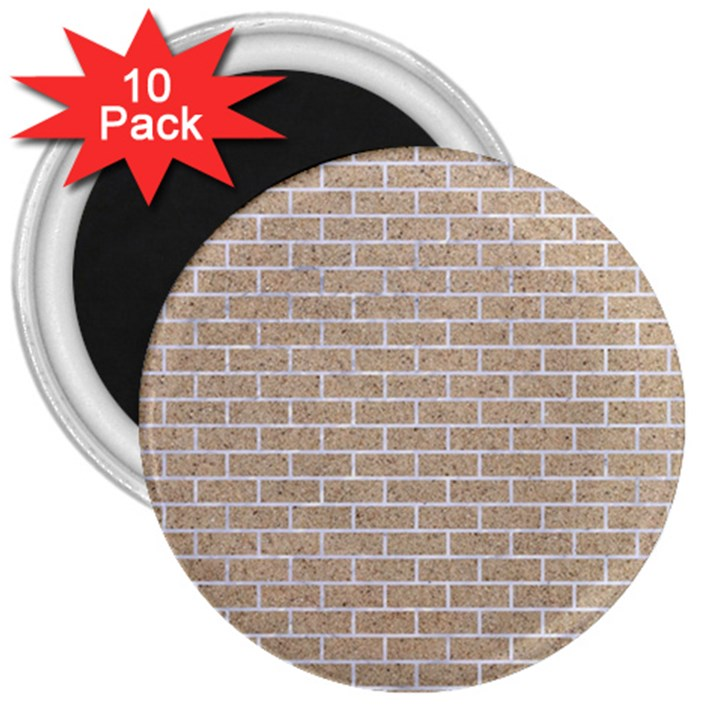 BRICK1 WHITE MARBLE & SAND 3  Magnets (10 pack)