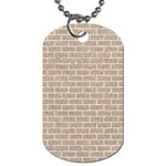 BRICK1 WHITE MARBLE & SAND Dog Tag (Two Sides) Front
