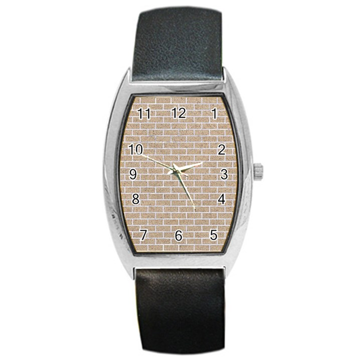 BRICK1 WHITE MARBLE & SAND Barrel Style Metal Watch