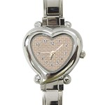 BRICK1 WHITE MARBLE & SAND Heart Italian Charm Watch Front