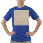 BRICK1 WHITE MARBLE & SAND Dark T-Shirt Front