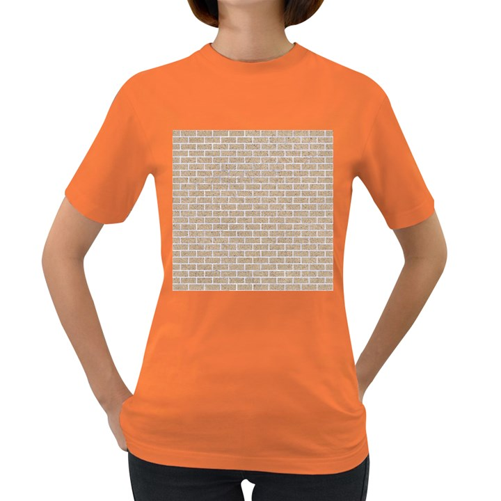 BRICK1 WHITE MARBLE & SAND Women s Dark T-Shirt