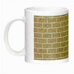 Brick1 White Marble & Sand Night Luminous Mugs