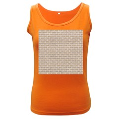 Brick1 White Marble & Sand Women s Dark Tank Top