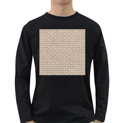 Brick1 White Marble & Sand Long Sleeve Dark T Shirts