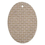 BRICK1 WHITE MARBLE & SAND Oval Ornament (Two Sides) Back
