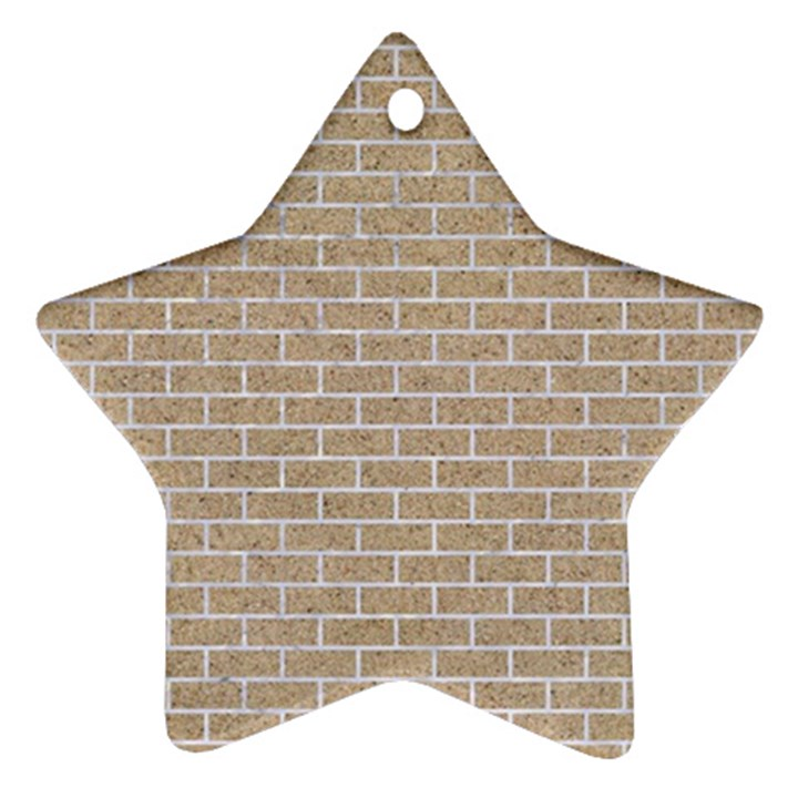 BRICK1 WHITE MARBLE & SAND Star Ornament (Two Sides)