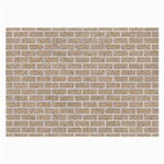 BRICK1 WHITE MARBLE & SAND Large Glasses Cloth (2-Side) Back