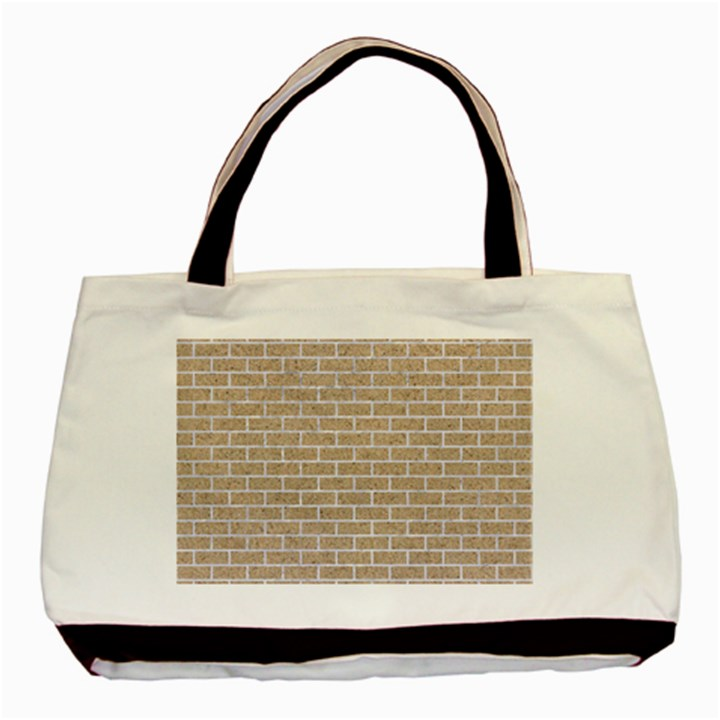 BRICK1 WHITE MARBLE & SAND Basic Tote Bag (Two Sides)