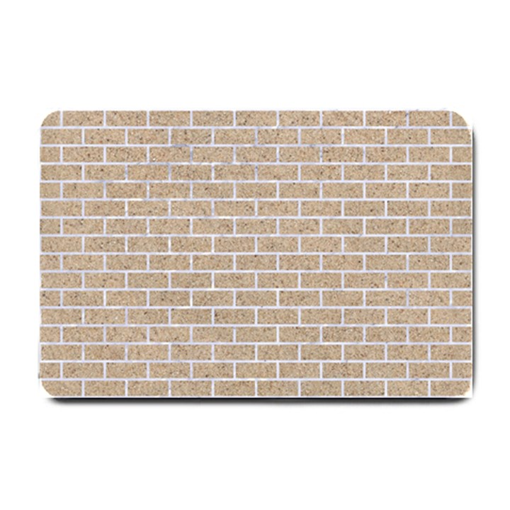 BRICK1 WHITE MARBLE & SAND Small Doormat