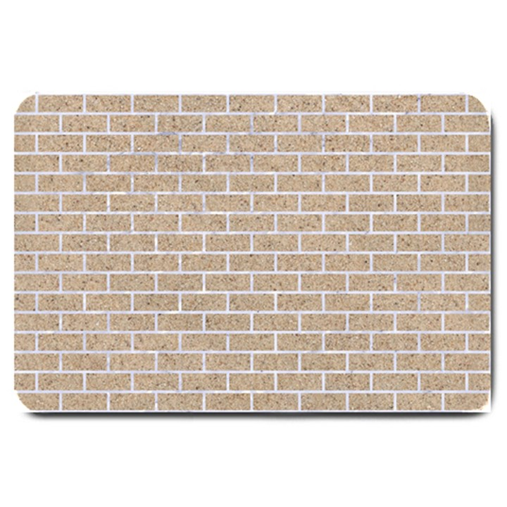 BRICK1 WHITE MARBLE & SAND Large Doormat