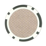 BRICK1 WHITE MARBLE & SAND Poker Chip Card Guard Front