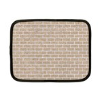 BRICK1 WHITE MARBLE & SAND Netbook Case (Small)  Front