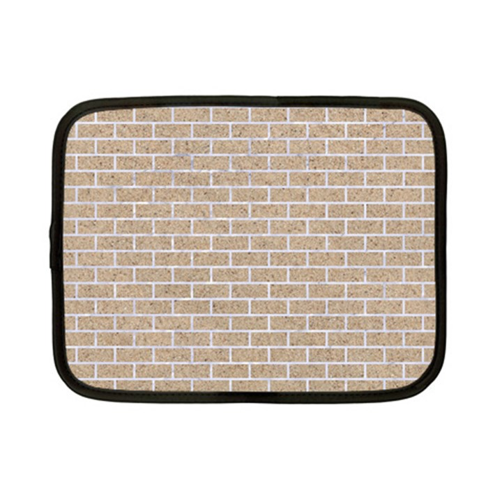 BRICK1 WHITE MARBLE & SAND Netbook Case (Small)