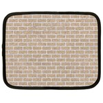 BRICK1 WHITE MARBLE & SAND Netbook Case (Large) Front