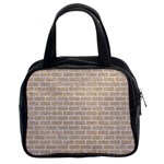 BRICK1 WHITE MARBLE & SAND Classic Handbags (2 Sides) Front