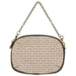 BRICK1 WHITE MARBLE & SAND Chain Purses (One Side)  Front
