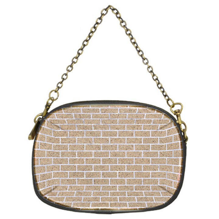 BRICK1 WHITE MARBLE & SAND Chain Purses (Two Sides)