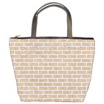 BRICK1 WHITE MARBLE & SAND Bucket Bags Front