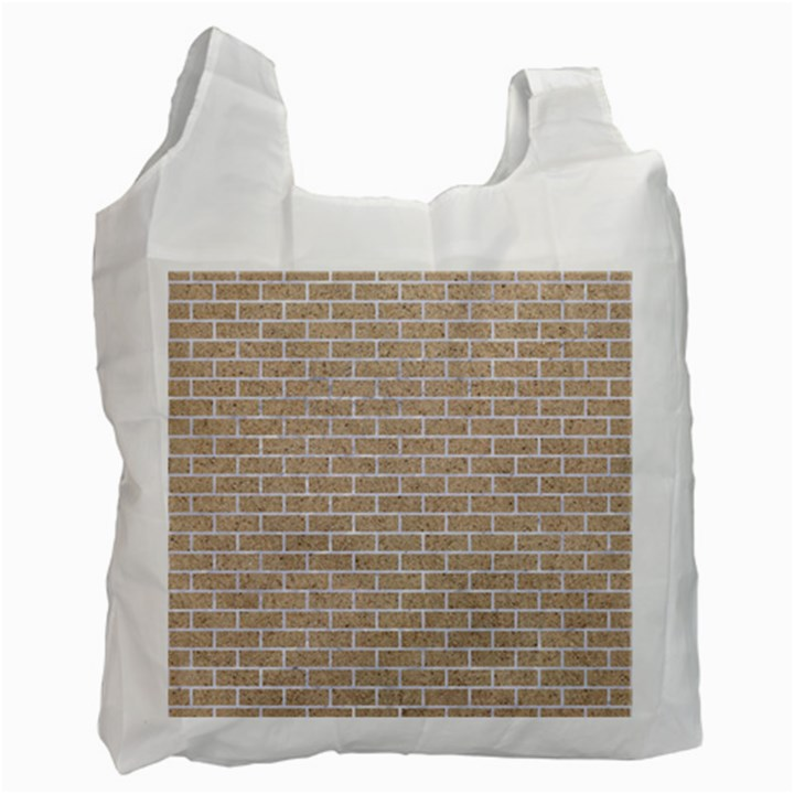 BRICK1 WHITE MARBLE & SAND Recycle Bag (One Side)