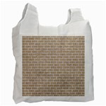 BRICK1 WHITE MARBLE & SAND Recycle Bag (Two Side)  Front