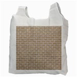 BRICK1 WHITE MARBLE & SAND Recycle Bag (Two Side)  Back