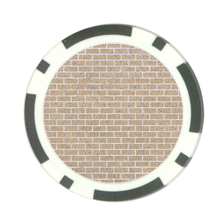 BRICK1 WHITE MARBLE & SAND Poker Chip Card Guard (10 pack)