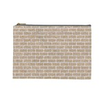 BRICK1 WHITE MARBLE & SAND Cosmetic Bag (Large)  Front