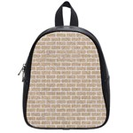 BRICK1 WHITE MARBLE & SAND School Bag (Small) Front