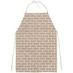 BRICK1 WHITE MARBLE & SAND Full Print Aprons Front