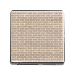 BRICK1 WHITE MARBLE & SAND Memory Card Reader (Square) Front