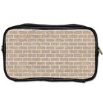 BRICK1 WHITE MARBLE & SAND Toiletries Bags 2-Side Front