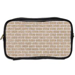 BRICK1 WHITE MARBLE & SAND Toiletries Bags 2-Side Back