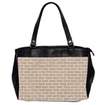 BRICK1 WHITE MARBLE & SAND Office Handbags (2 Sides)  Front